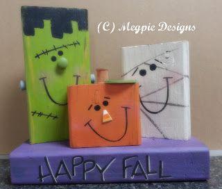 Megpie Designs: 2×4 Hallween Characters