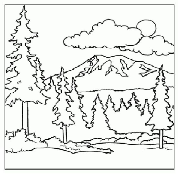 mountain coloring page  children coloring pages