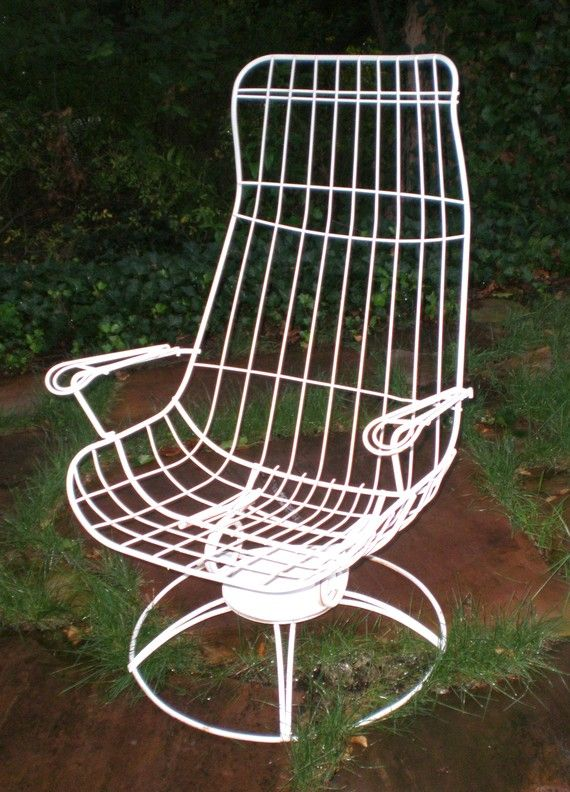 Vintage HomeCrest Siesta Lounge Eames Style Iron Chair Iron