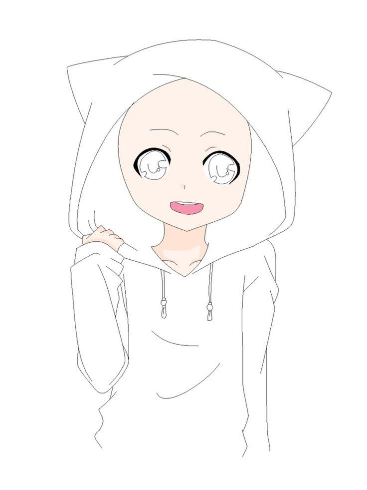 Anime Boy Base Cat Hoodie Base By Natalielobsters