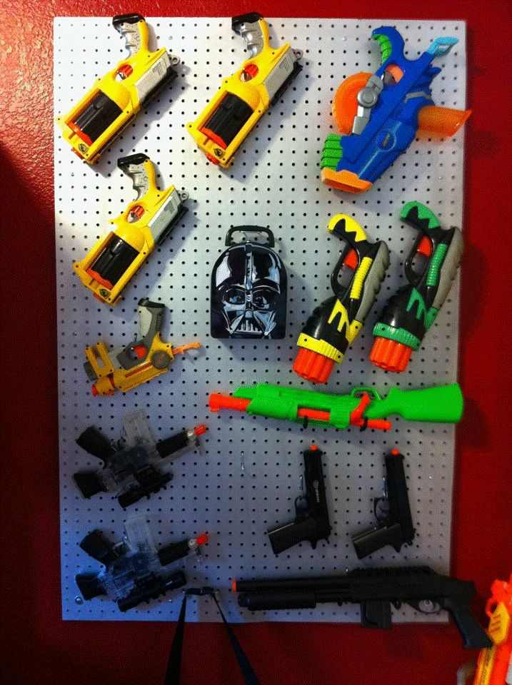 Nerf Airsoft Storage Wall Project And Picture By Vickie