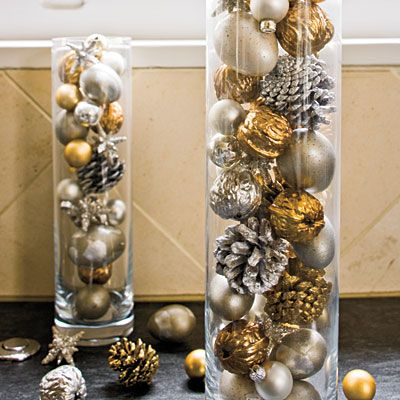 Fill Cylinders With Ornaments 100 Fresh Christmas