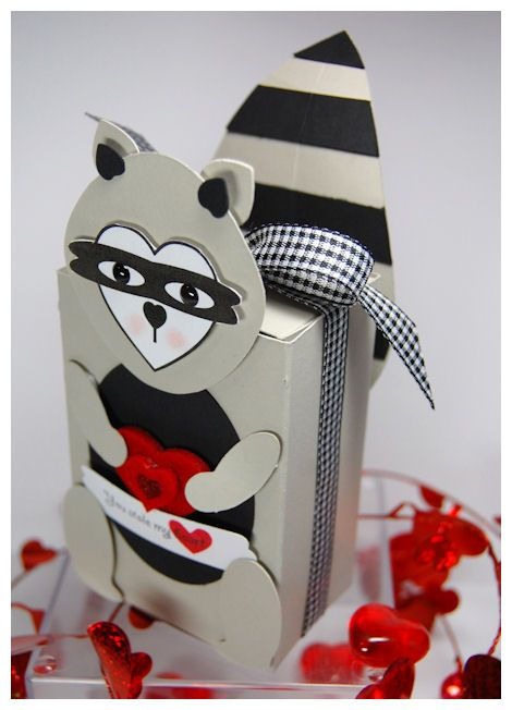 Raccoon Valentine Box Valentine Boxes Pinterest