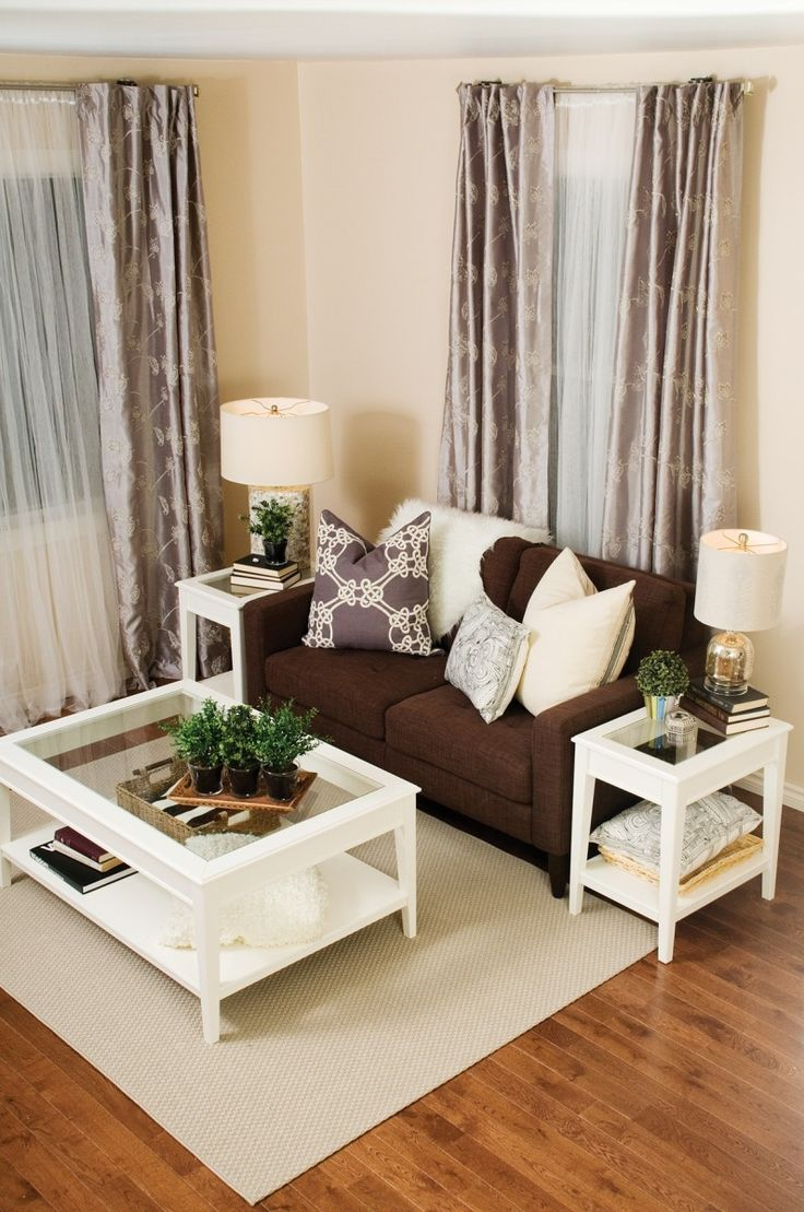 living room decor idea brown couches