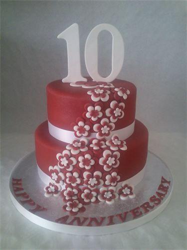 10th Wedding Anniversary Cakes Happy Anniversary