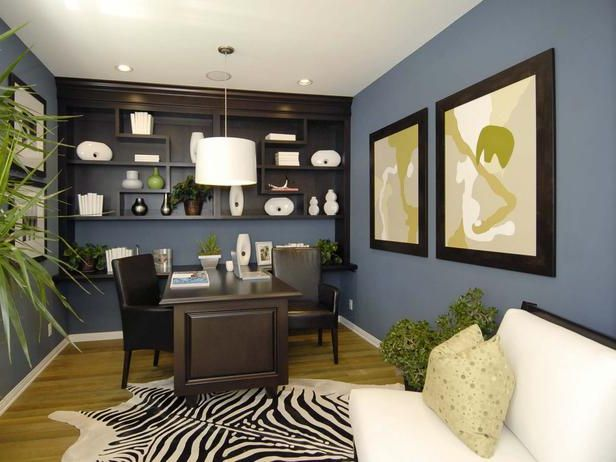 house decorating ideas blue brown home office color on blue office color id=25697