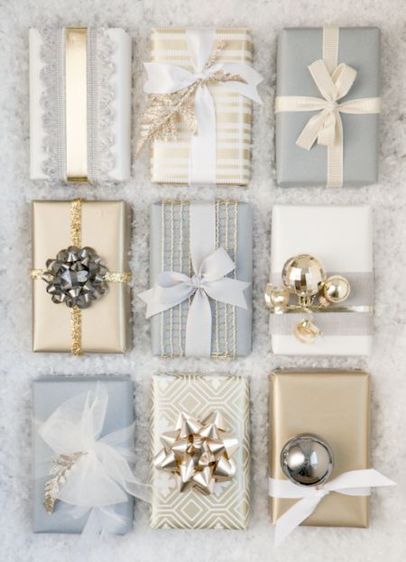Pretty Holiday Gift Wrap - I could easily see myself translating this idea over to boutique product packaging!!: