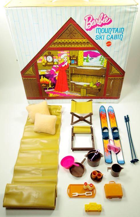 Barbie 1972 Vintage Barbie Mountain Ski Cabin Folding