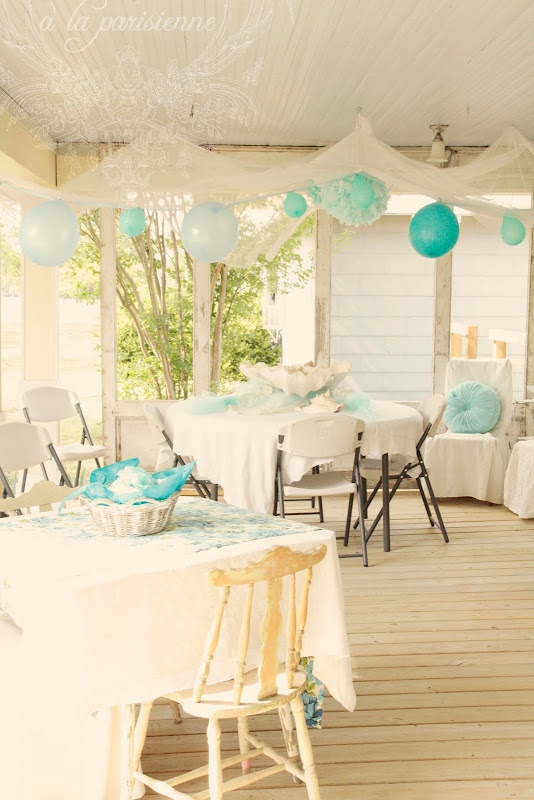 turquoise party theme