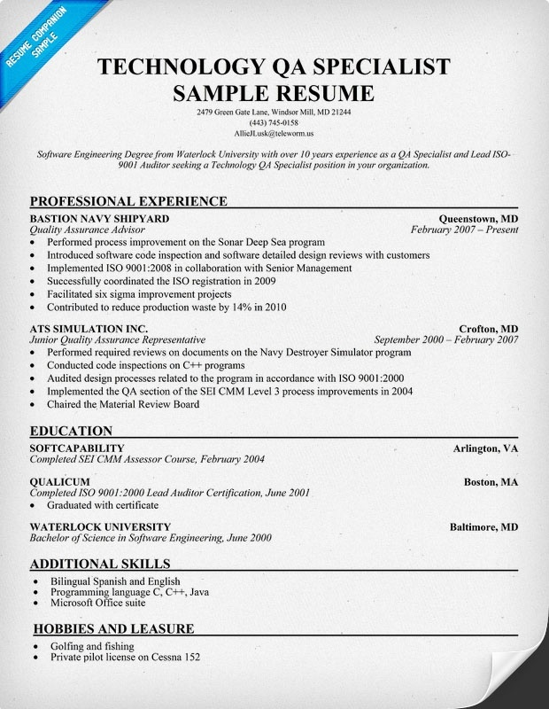 31 Best Images About Software Quality Assurance On Pinterest Resume Templates Entry Level And
