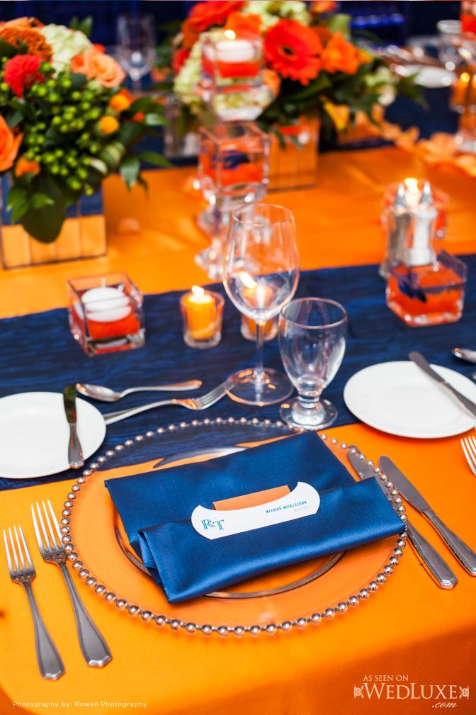 139 Best Images About Wedding Blue Amp Orange On Pinterest