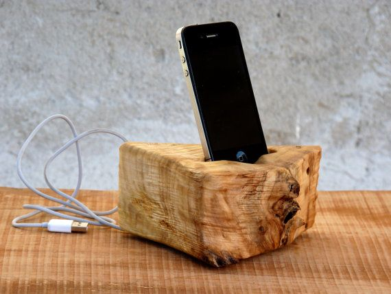 Super Sale Wooden Iphone 4 5 Docking Station Wood Iphone