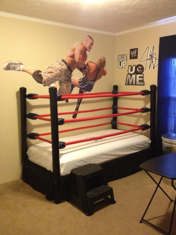 DIY WWE Wrestling Bed Kids Room I Made This With An Old