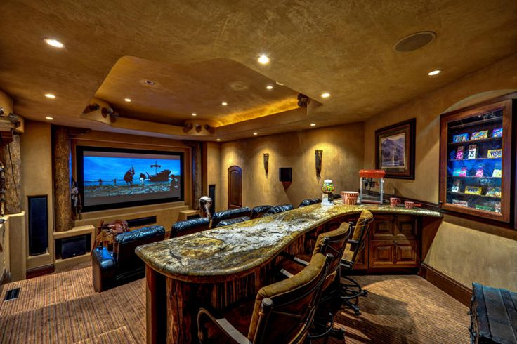 Home Theater With Snack Bar Recreation Room Pinterest