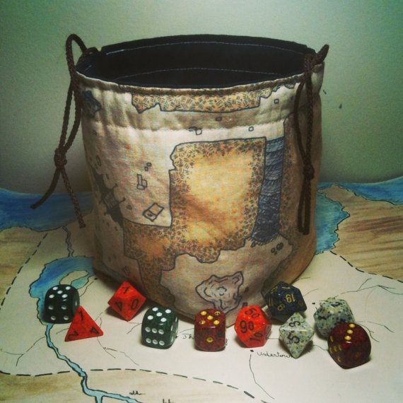 Classic Dungeon Map Dice Bag By Greyedout On Etsy 2000