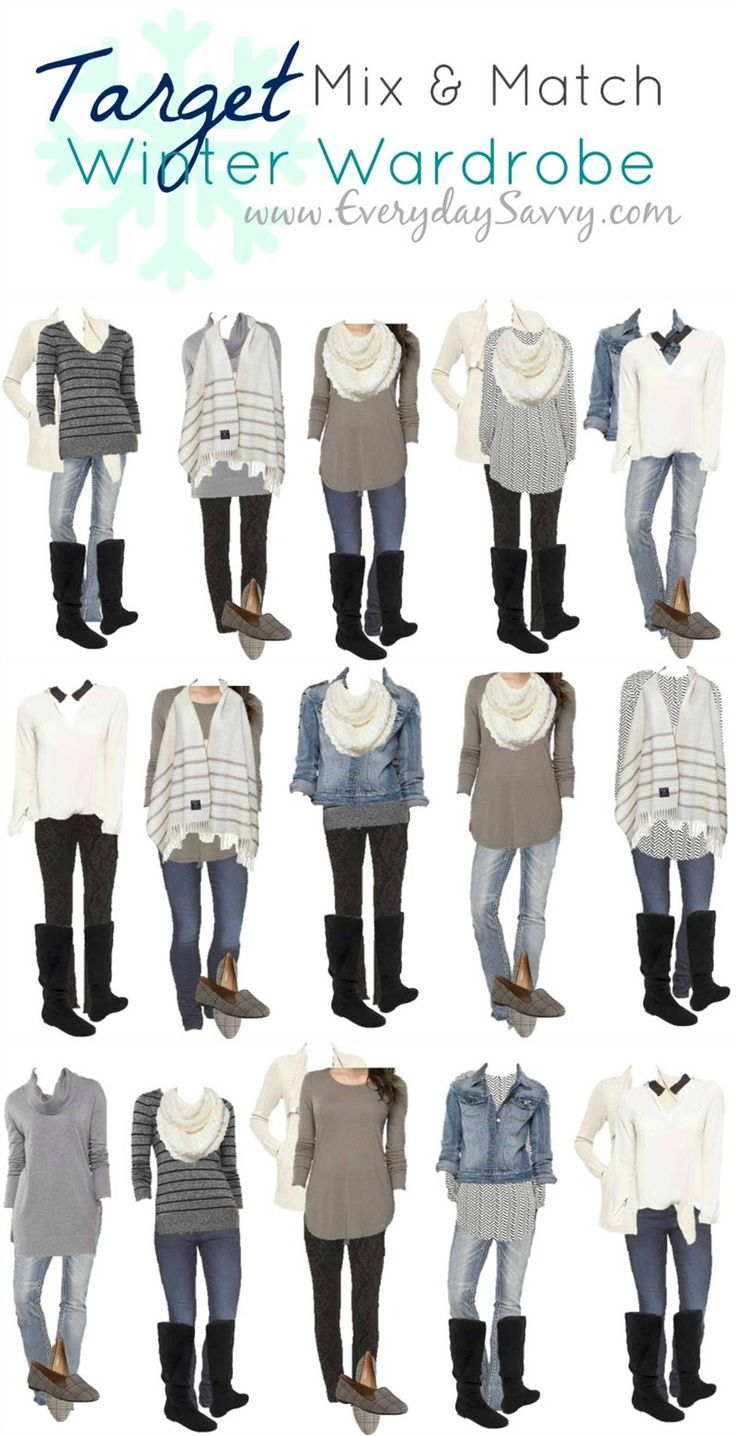 Mix and Match Target Winter Outfits. This Target capsule wardrobe makes it so easy to look pulled together. I love the blue, black