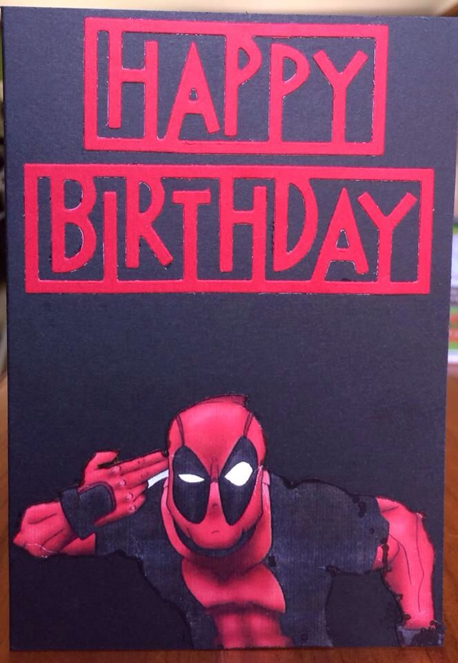 Deadpool Card RellB The Creative Mum The Creative Mum Pinterest Deadpool And Creative
