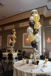 The Balloon Centerpiece Is A Unique Idea Maybe We Should
