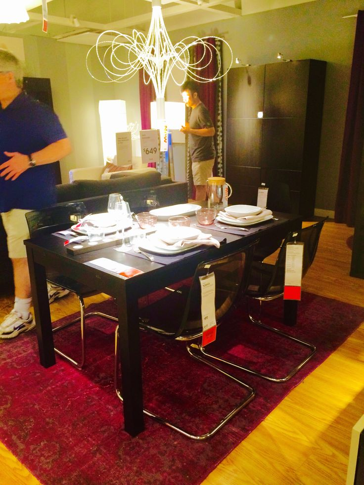 Ikea BJURSTA Table And TOBIAS Chair Dining Set New Condo