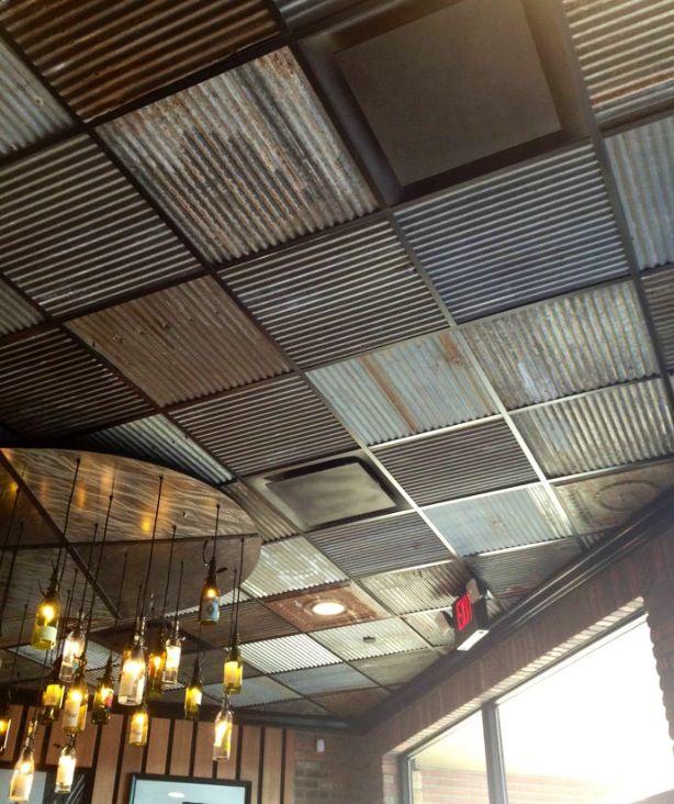 Corrugated Metal Drop Ceiling Tiles Bohemian Home