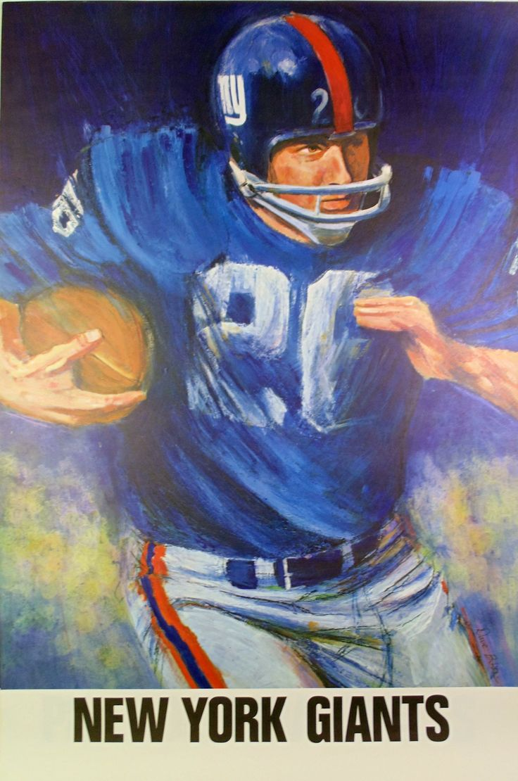 17 Best Images About NFL Art New York Giants On Pinterest