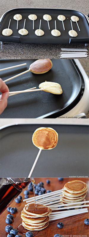 #FoodFun: #Pancake Pops – tender, bite-sized pancakes on a stick.