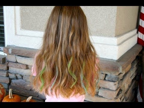 chalk highlights easy no dye highlights for holidays school spirit day cheer etc washes