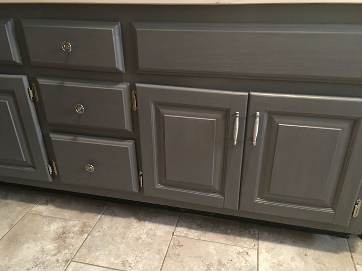 General Finishes Milk Paint Driftwood Gray Bathroom