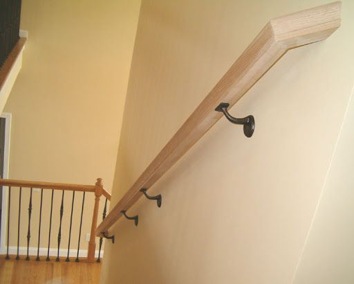 Image Result For Wall Mounted Wooden Handrails For Stairs