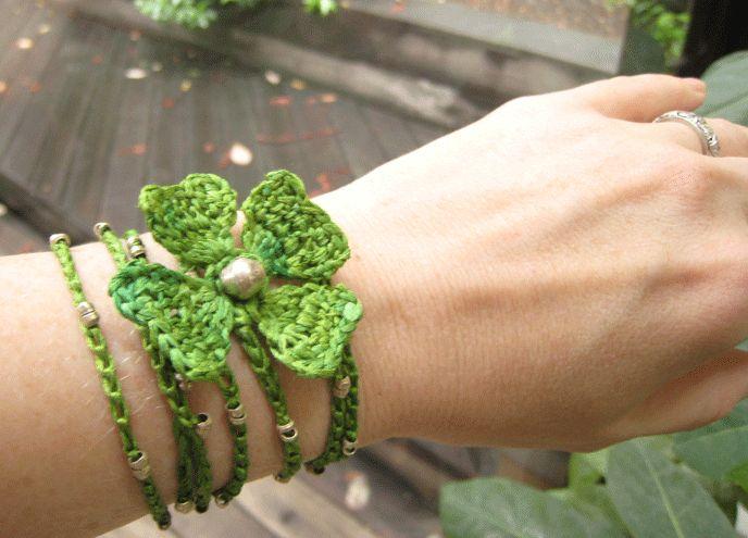Lucky 4-Leaf Clover Bracelet: pattern I really like the