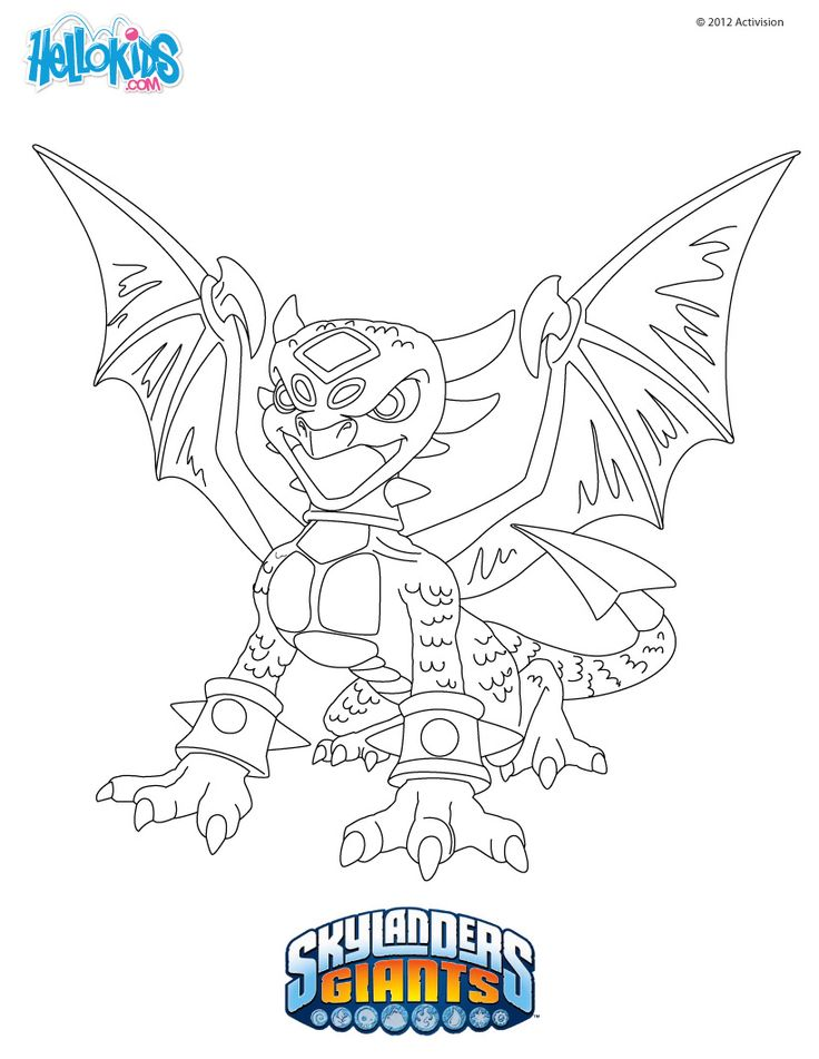 cynder coloring page  skylander's coloring pages