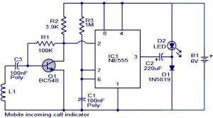 Mobile ining call indicator circuit diagram