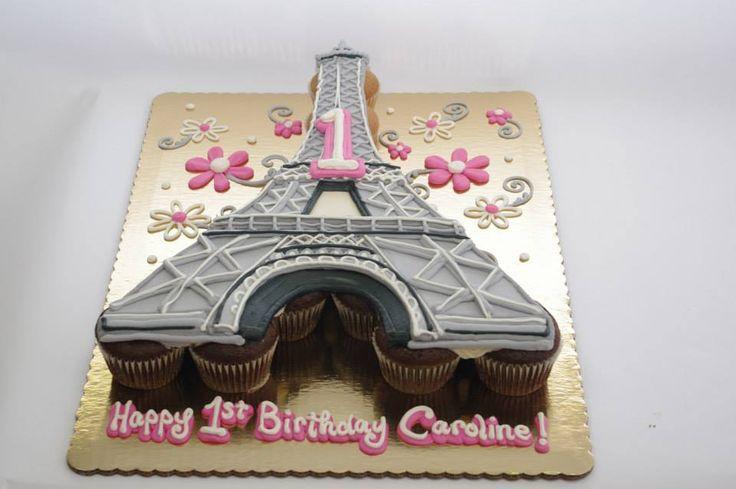 Eiffel Tower Pull Part Cupcake Cake Cupcakes Pull Apart