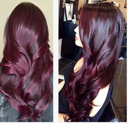 Aubergine Hair Color Aubergine Appears On The Very Violet