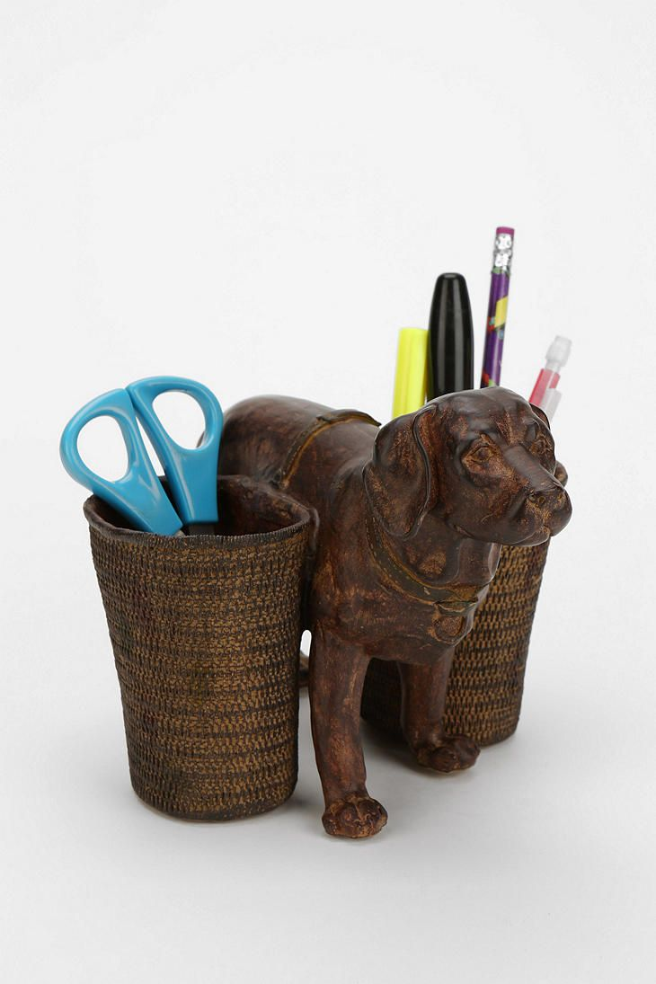 Dog pencil cup pencil cup cups and dogs
