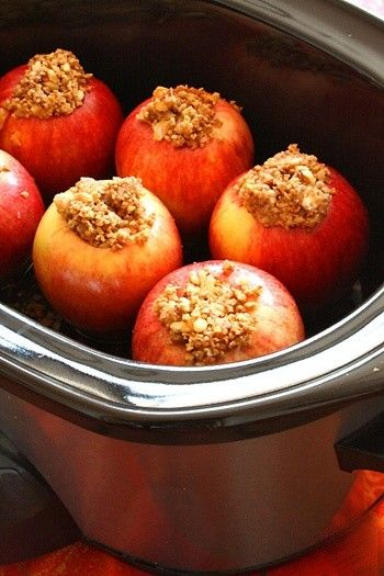 fall recipe: crockpot baked apples. these would make the house smell amazing.