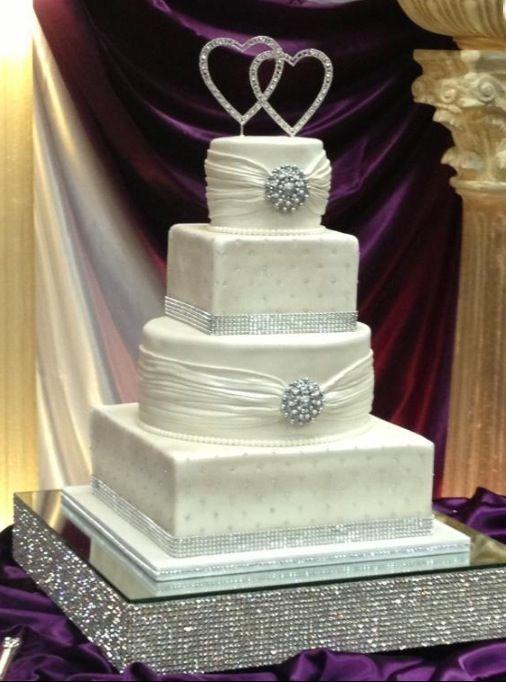 A Bling Wedding Cake Wedding Ideas Pinterest Wedding