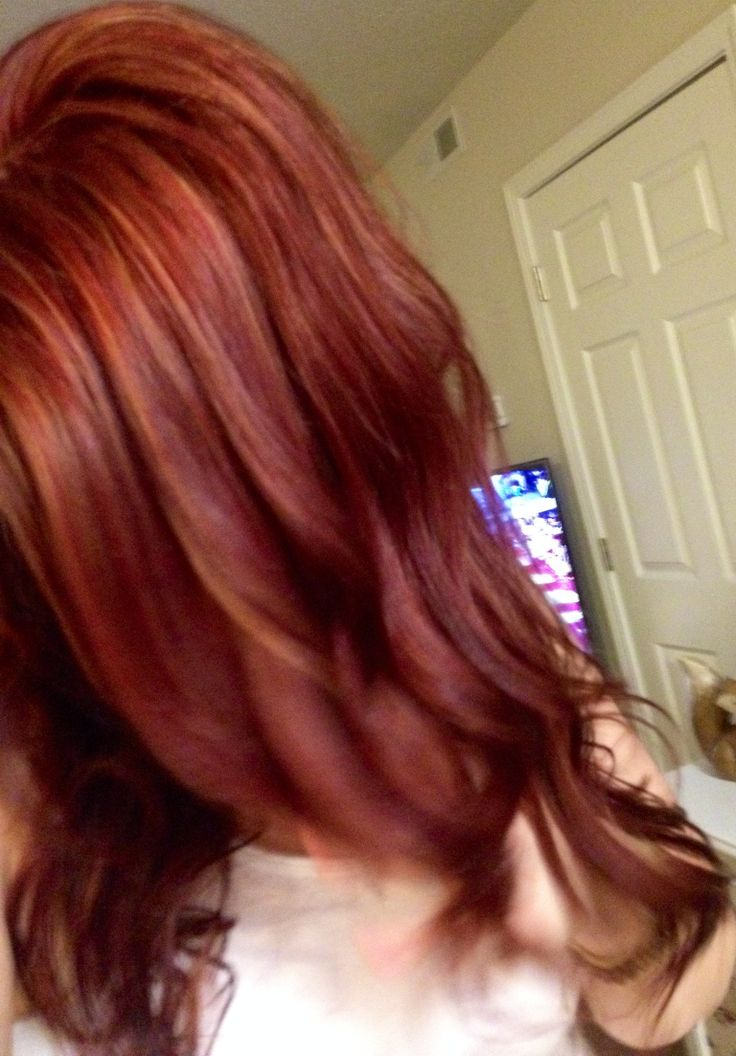 Mahogany Red With Copper Red And Blonde Highlights My