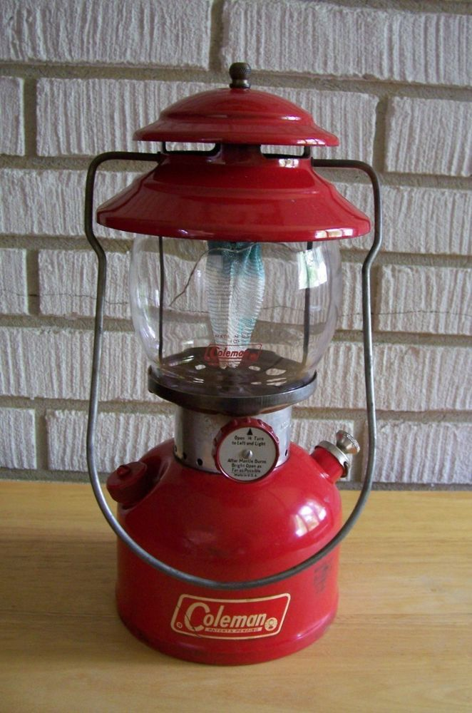 Vintage COLEMAN LANTERN Red 200A Made In The USA 1967