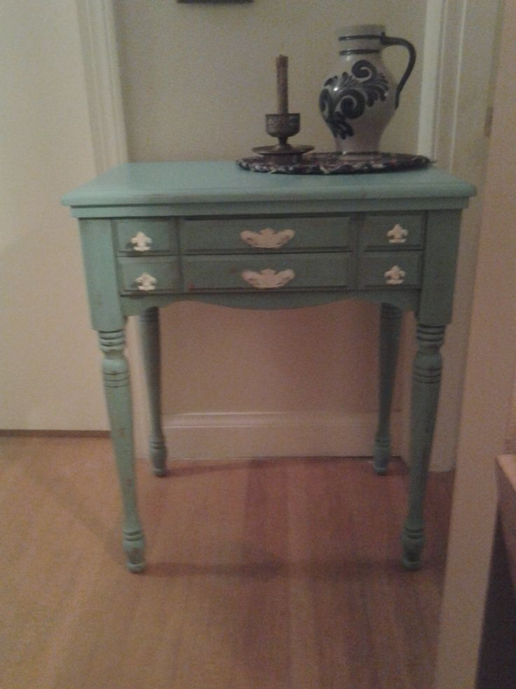 Vintage Sewing Cabinet Repurposed Painted With HTP