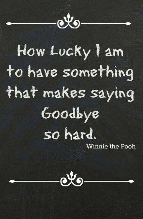 Saying Goodbye Teacher
