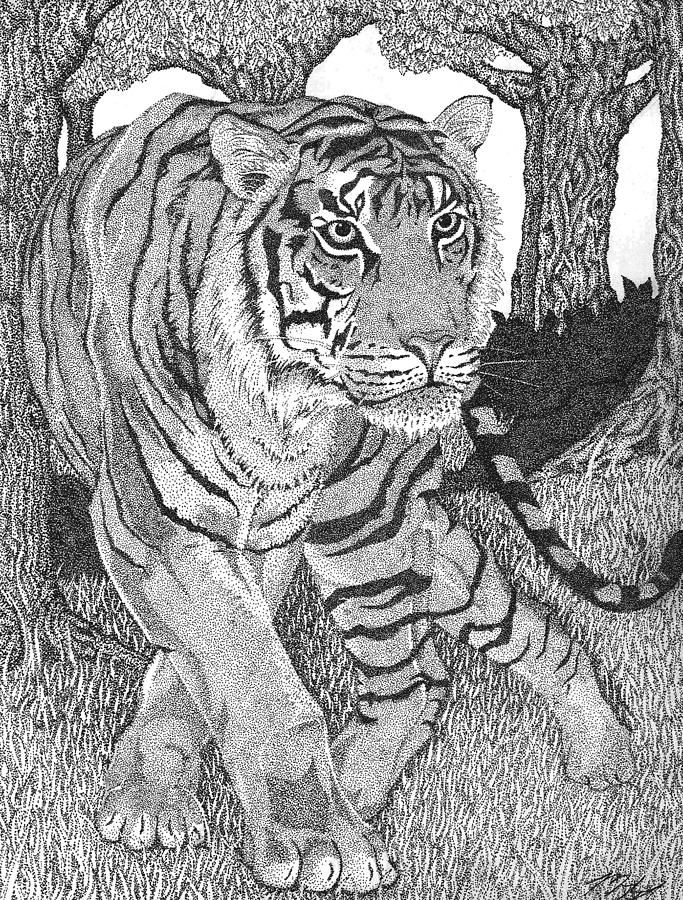 famous tiger paintings jungle prince stipple drawing on wall street journal login id=70829