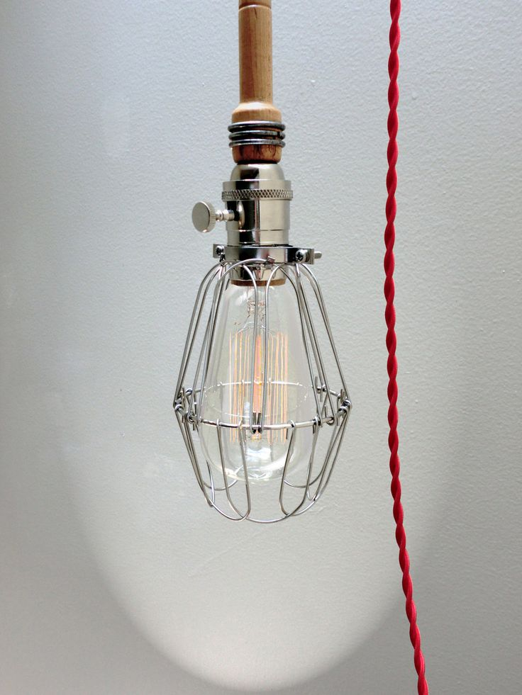 Red Cord Pendant Light