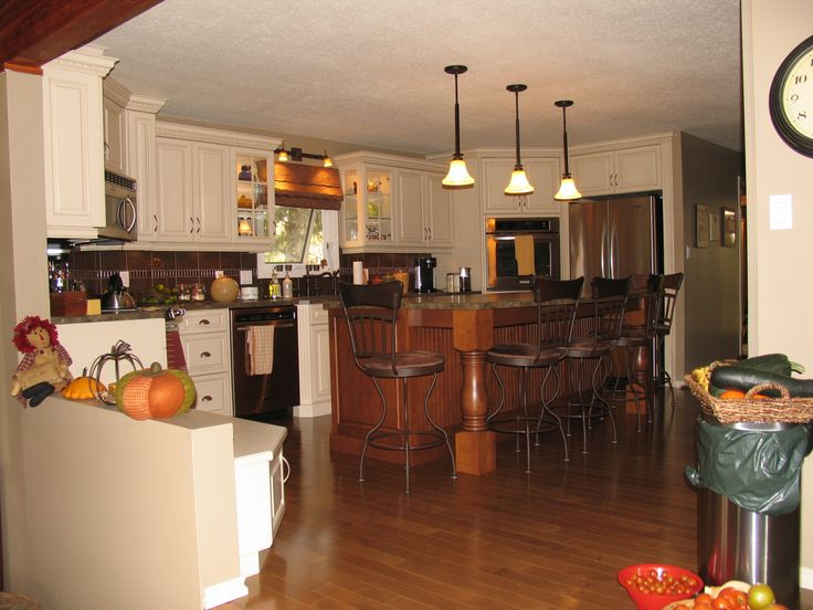Kitchen Cabinets Maple Champagne Island Cabinets