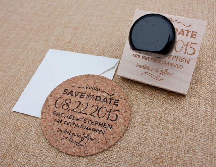 Hand-stamped Cork Coaster Save