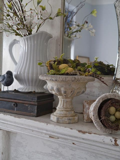 Shabby White Mantel Decor Fireplace Amp Mantel Design And