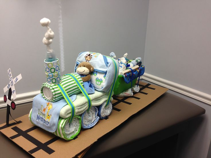 Baby Boy Train Diaper Cake My Crafty Creations For Gift