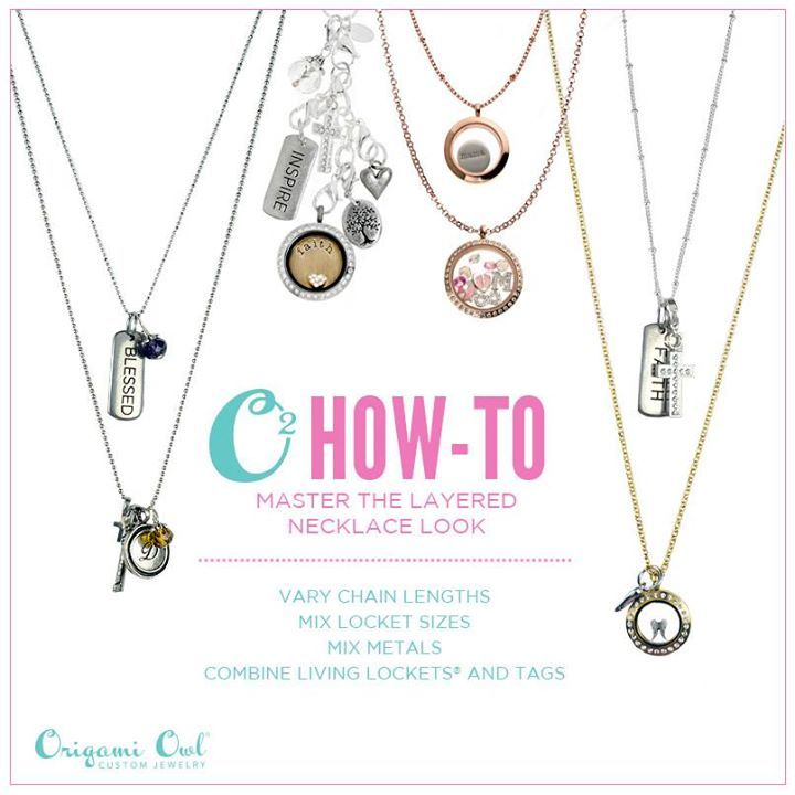 How to master the layered necklace look with origami owl
