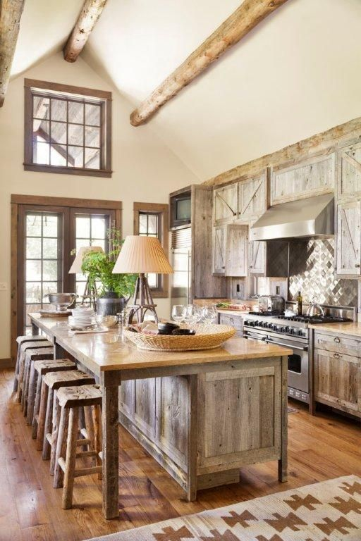 212 best images about rustic country farmhouse kitchens on pinterest stove farmhouse on kitchen cabinets rustic farmhouse style id=94389