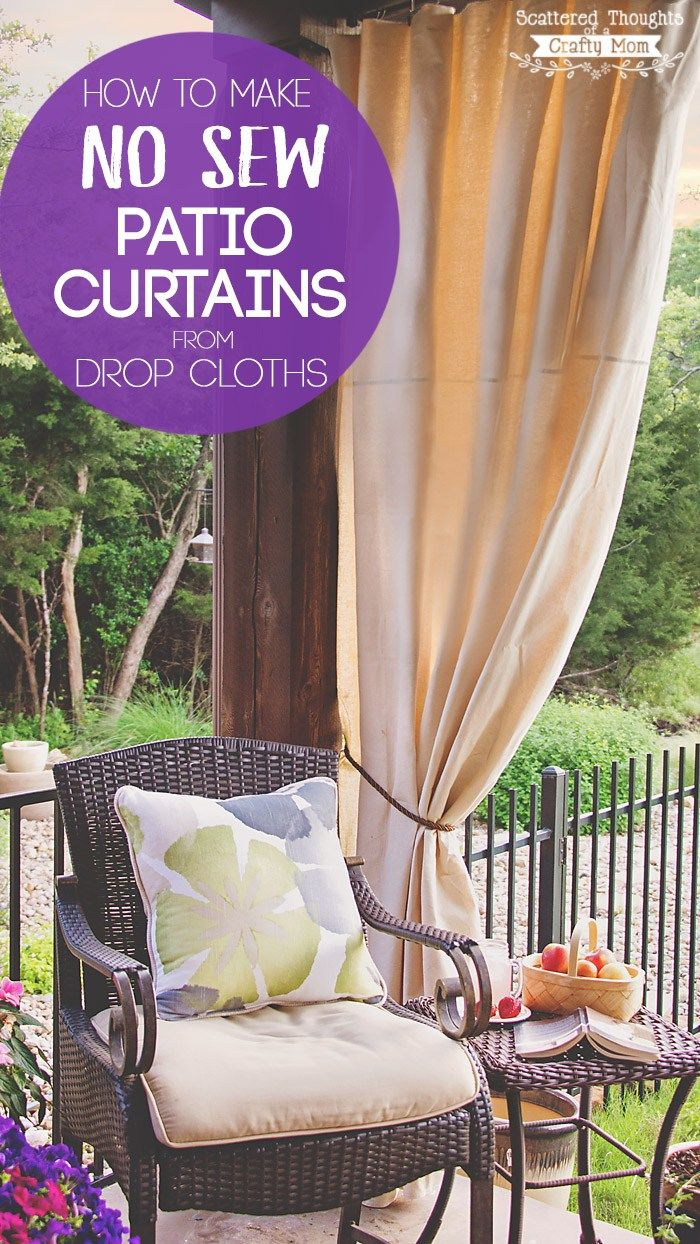 Diy Patio Curtains From Drop Cloths With No Sewing Sun